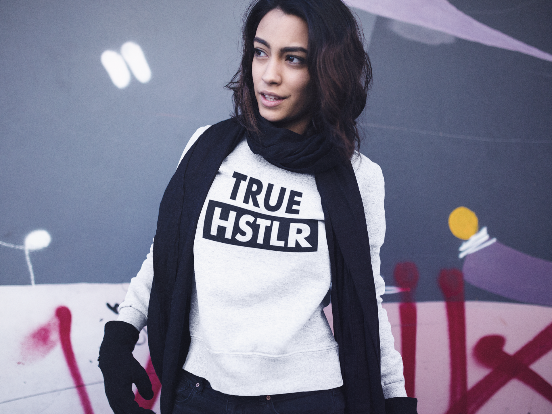 3b62cf5e9 True Hustlr Sweatshirt White - HSTLR® Wear
