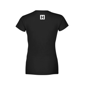 Hstlr wear a rotterdam clothing company serving hustlers Womens black tee shirt